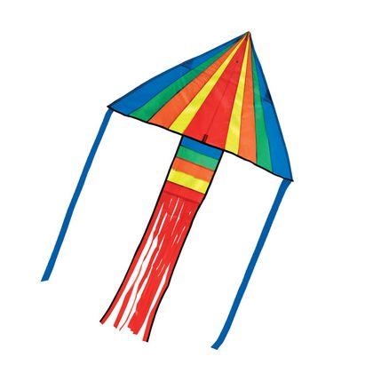 Dúhový šarkan v tvare trojuholníka - raketa