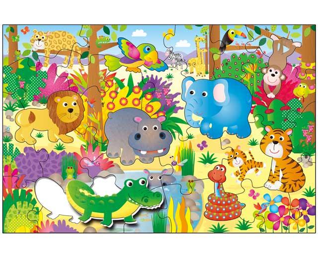 Obrie puzzle: Džungľa