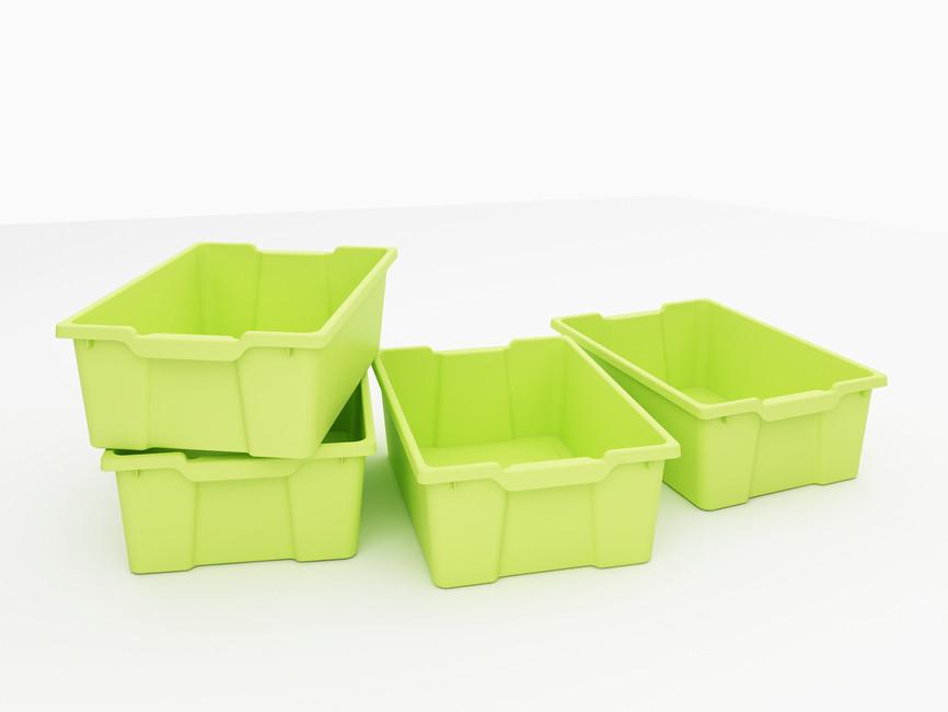 6e19ba1e2 Plastový úložný box hlboký zelený 4 - Hravaskolka.sk
