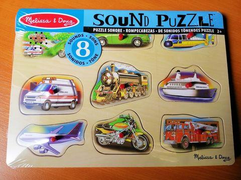 Zvukové puzzle Vozidlá