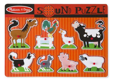 Zvukové puzzle - Zvieratká na farme